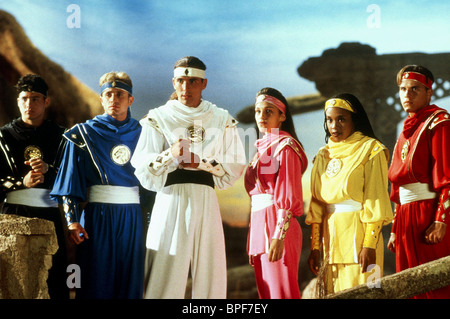 JOHNNY YONG BOSCH, DAVID YOST, JASON DAVID FRANK, AMY JO JOHNSON, KARAN ASHLEY, STEVE CARDENAS, MIGHTY MORPHIN POWER - Stock Photo
