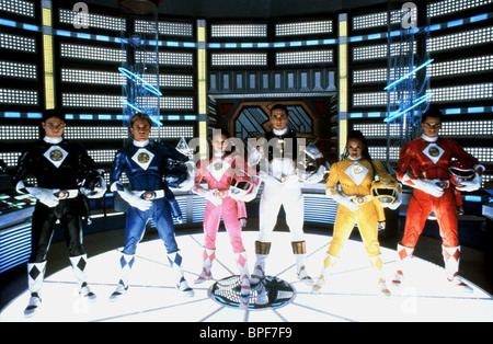 JOHNNY YONG BOSCH, DAVID YOST, AMY JO JOHNSON, JASON DAVID FRANK, KARAN ASHLEY, STEVE CARDENAS, MIGHTY MORPHIN POWER - Stock Photo