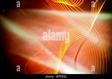 Abstract light shapes in the dark - Stock Photo