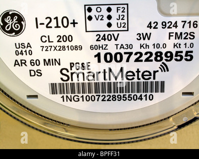 PG&E SmartMeter residential electric meter close up - Stock Photo