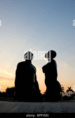 Redemption Song monument in Emancipation Park, Kingston, Jamaica - Stock Photo