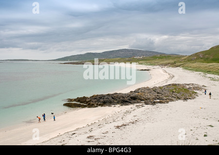 Prince's Beach from the Barra Ferry Terminal on Eriskay, Outer Hebrides, Western Isles, Highland. Scotland.  SCO - Stock Photo