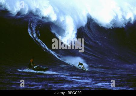 JETSKIER, SURFER, IN GOD'S HANDS, 1998 - Stock Photo