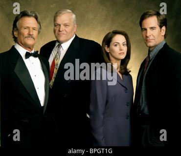 KRIS KRISTOFFERSON BRIAN DENNEHY JOANNA GOING & SCOTT BAKULA NETFORCE; TOM CLANCY'S NETFORCE (1999) - Stock Photo