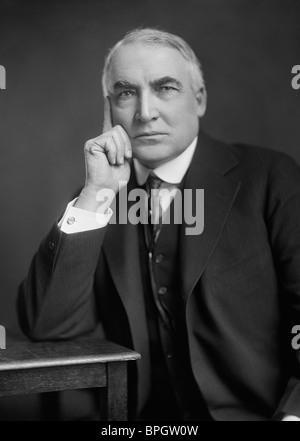 Portrait photo circa 1920 of Warren G. Harding (1865 - 1923) - the 29th US President (1921 - 1923). - Stock Photo