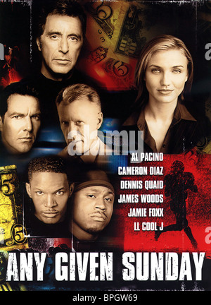 FILM POSTER ANY GIVEN SUNDAY (1999) - Stock Photo
