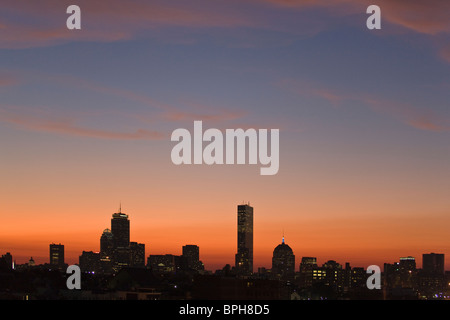 Buildings in a city, Back Bay, Boston, Massachusetts, USA - Stock Photo