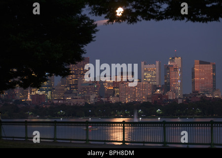 Buildings at the waterfront, Charles River, Back Bay, Boston, Massachusetts, USA - Stock Photo