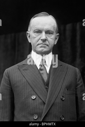 Vintage photo circa 1924 of Calvin Coolidge (1872 - 1933) - the 30th US President (1923 - 1929). - Stock Photo