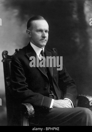 Portrait photo circa 1919 of Calvin Coolidge (1872 - 1933) - the 30th US President (1923 - 1929). - Stock Photo