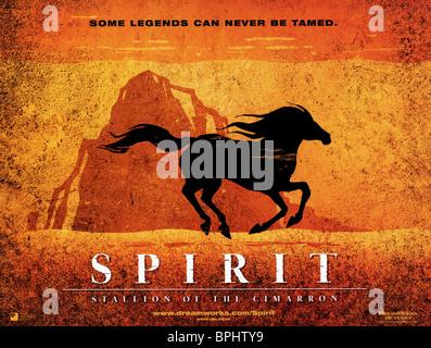SPIRIT MOVIE POSTER Stallion of the Cimarron RARE 17x24