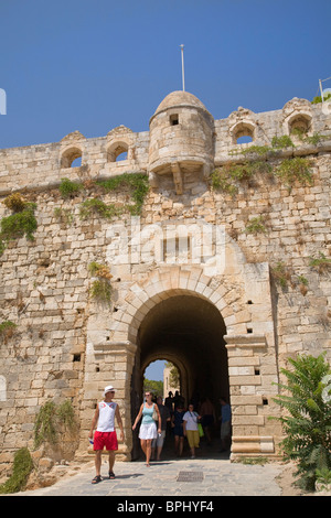 Entrance gateway to Rethymno Fort, Crete, Greece - Stock Photo
