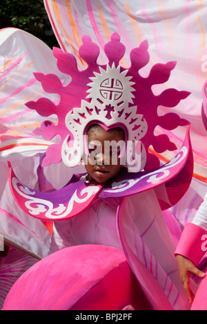 LONDON, ENGLAND - Notting Hill Carnival 2010, Children's Day, Group Mahogany - Stock Photo