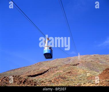Mt Teide Cable Car, Parque Nacional del Teide, Tenerife, Canary Islands, Spain - Stock Photo