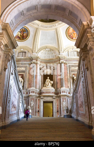 Interior at The Royal Palace at Caserta, Italy - Stock Photo