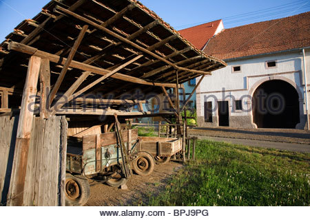 Farmyard, Rathsweiler, Rhineland-Palatinate, Germany - Stock Photo