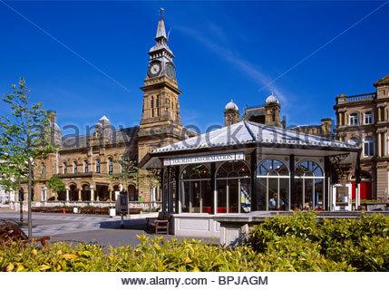 Arts Centre & Tourist Information Centre, Lord Street, Southport, Merseyside, England, UK - Stock Photo