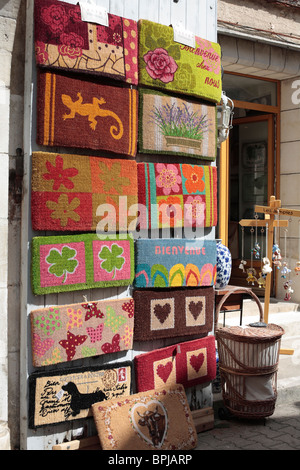 Doormats On Display Outside A Shop In The French Village