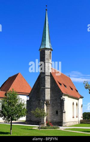 Castle of Burghausen, longest castle in Europe 1043 meter long, - Stock Photo
