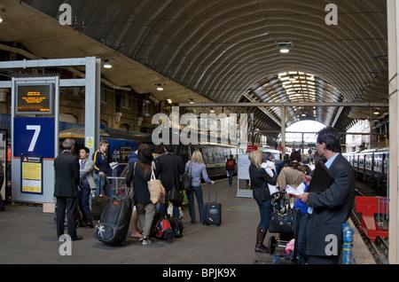 Kings Cross Mainline Station - London - Stock Photo