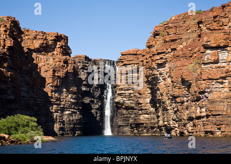 King George Falls are the highest single-drop falls in the Kimberley region of Western Australia - Stock Photo