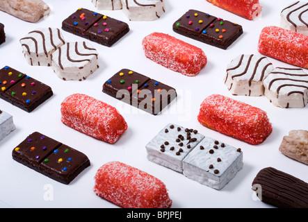 An assortment of junk food items.  - Stock Photo