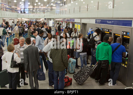 Ticket Hall - Kings Cross/St Pancras Underground Station - London - Stock Photo