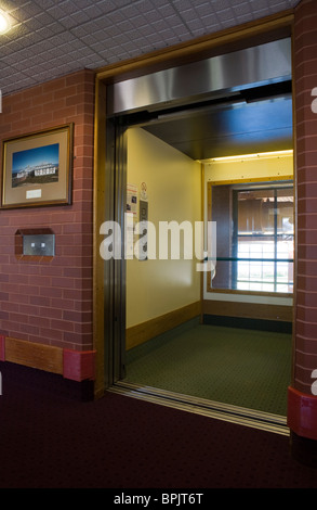 Disability access  Lift Doors at Vitalise Respite Care Centre, Southport, Merseyside, UK - Stock Photo