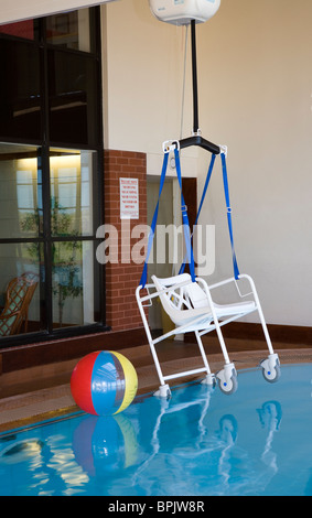 Disability access  Bath Hoist at Vitalise Respite Care Centre, Southport, Merseyside, UK - Stock Photo