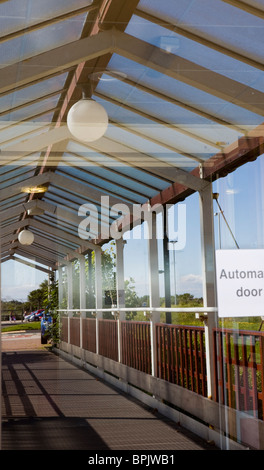 Disability access   Entrance Reflection at Vitalise Respite Care Centre, Southport, Merseyside, UK - Stock Photo