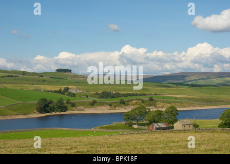 Grassholme Reservoir, Lunedale, near Middleton-in-Teesdale, County Durham, England, UK - Stock Photo