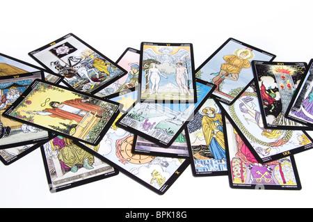 tarot cards isolated - Stock Photo
