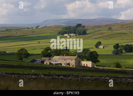 Farmhouse, Baldersdale, County Durham, England UK - Stock Photo