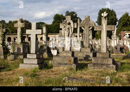 Brompton Cemetery London UK - Stock Photo