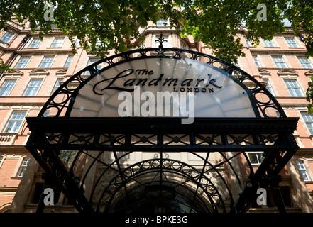 The Landmark Hotel, Marylebone Road, London - Stock Photo