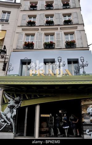 Prada store, Paris, France - Stock Photo