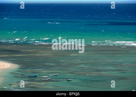 Idle fishing boats, Luquillo, Puerto Rico - Stock Photo