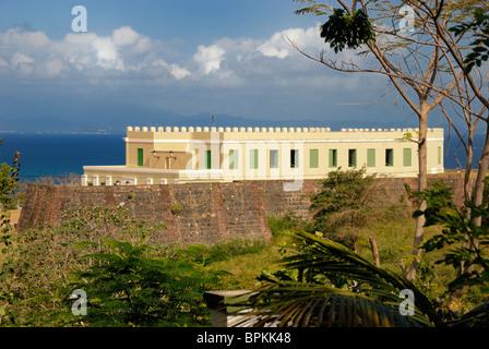 Fort Conde De Mirasol and museum c.1855, Isabel Segunda, Vieques, Puerto Rico - Stock Photo