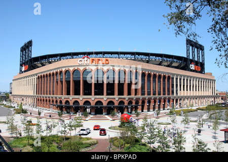 Citi Field Stadium in Queens, New York, home of the Mets baseball team, completed in 2009 as a replacement for Shea - Stock Photo