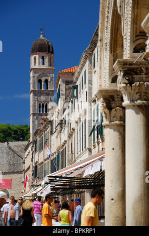 DUBROVNIK, CROATIA. A view along Stradun (Placa) in Dubrovnik old town. - Stock Photo