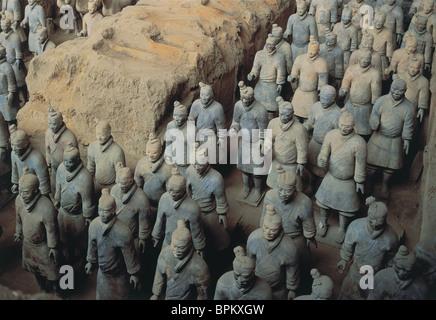 Terracotta Warriors, Xi'an, Shaanxi Privince, China - Stock Photo
