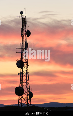 A communications mast in Stykkishólmur, Iceland - Stock Photo