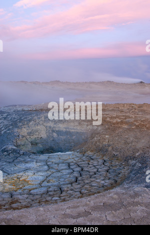 Steam Vent at Hverir near Myvatn, Iceland - Stock Photo