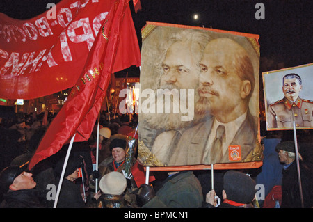 Communist Party and Left Front mark 91st anniversary of October Revolution - Stock Photo
