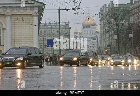 Russia bids farewell to Patriarch of Moscow and All Russia Alexy II - Stock Photo