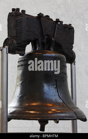 Liberty Bell, Independence Hall, Philadelphia, Pennsylvania, USA - Stock Photo