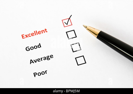 Customer questionnaire - Stock Photo