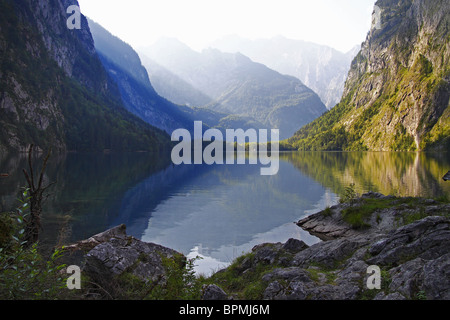 The Obersee lake at Berchtesgaden National Park, Bavaria, Germany. - Stock Photo
