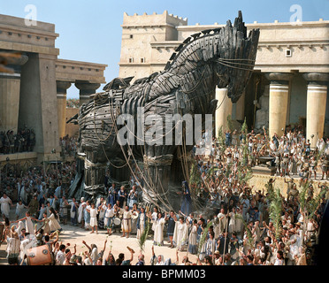 SCENE WITH TROJAN HORSE TROY (2004) - Stock Photo