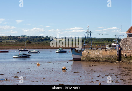 The Exe Estuary at Topsham near Exeter Devon England - Stock Photo
